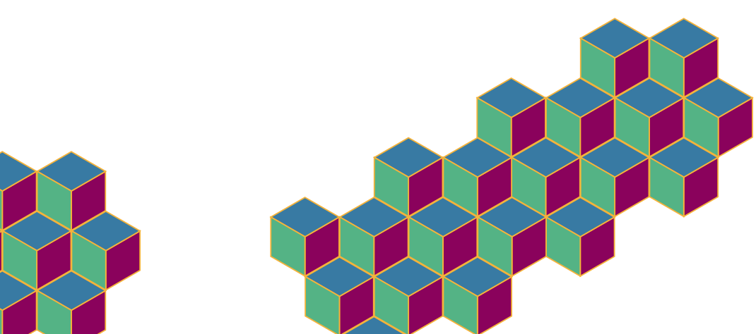 background image of cubes arranged as steps